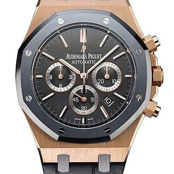 Audemars Piguet Royal Oak Leo Messi Automatic Chronograph Rose Gold Men\'s Watch