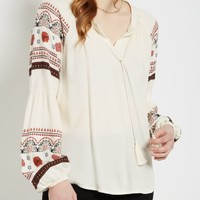 Boho Gathered Sleeve Peasant Top | Blouses | rue21