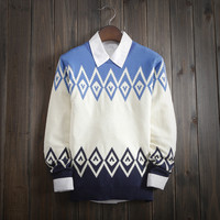 Men's Casual Ethnic Comfortable Knitwear Soft Sweater