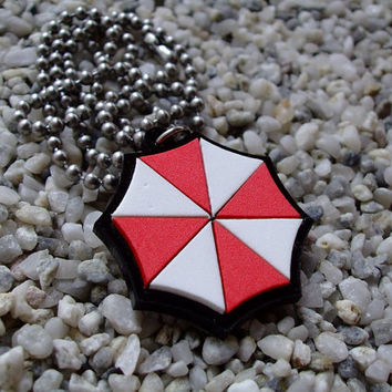 Resident Evil Umbrella inspired laser cut acrylic pendant necklace or key chain