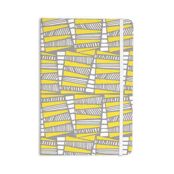 "Gill Eggleston ""Jaggi Yellow Grey"" Everything Notebook"