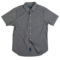 Treats Dungaree (Grey) Short Sleeve Button Down Shirt