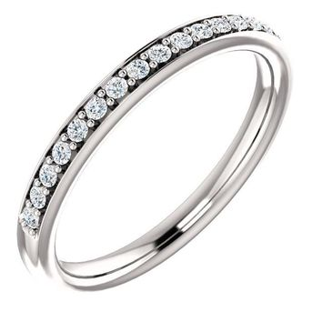 14k White Gold Band For 12x6mm Marquise Ring
