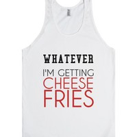 Funny Cheese Fries Tank-Unisex White Tank