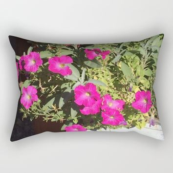 Magenta Rectangular Pillow by Jessica Ivy