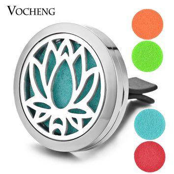 Stainless Steel Essential Oil Car Diffuser Vent Clip with 5 Free Oil Pads