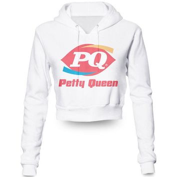 ONETOW Custom Petty Queen  Print  Crop Top Hoodie