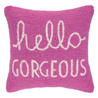 Hello Gorgeous Hook Pillow