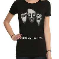 Marilyn Manson Sunglasses Girls T-Shirt