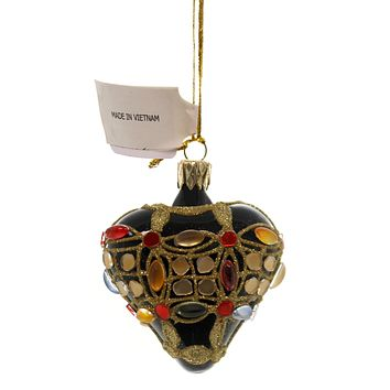 Christina's World BEJEWELLED MINIS Glass Ornament Stones Vet831 Heart
