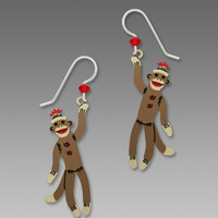 Sienna Sky Earrings - Sock Monkey