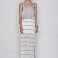 Magalie Two-In-One Maxi Dress- Fog Stripe
