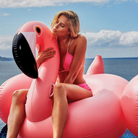 Online Shop 150CM 60 Inch Giant Inflatable Flamingo Pool Float Pink Ride-On Swimming Ring Adults Children Water Holiday Party Toys Piscina | Aliexpress Mobile