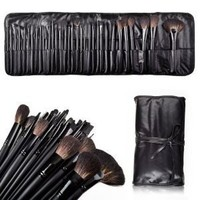 32 Count Super Professional Studio Brush Set with Leather Pouch, Graduation gift idea