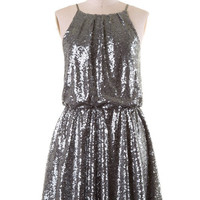 Starry Night Sequin Dress - Silver