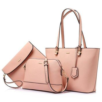 CREYON Handbags for Women Shoulder Bags Tote Satchel Hobo 3pcs Purse Set