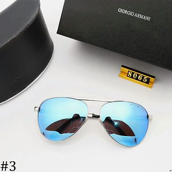 GIORGIO ARMANI 2018 new polarized sunglasses colorful polygonal sunglasses #3