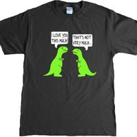I Love You This Much Funny T-rex Adult T-shirt