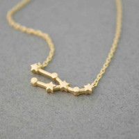 Taurus , the Bull   Pendant necklace in 3 colors -  Zodiac Sign jewelry, N0496K