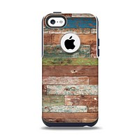 The Vintage Wood Planks Apple iPhone 5c Otterbox Commuter Case Skin Set