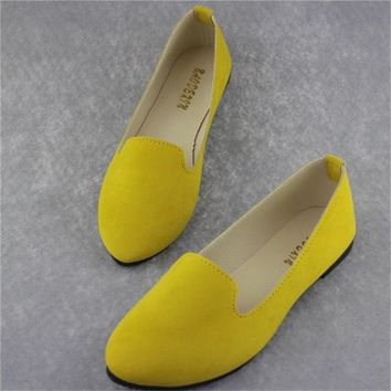 new Women Flats Candy Color Loafers Shoes size 789