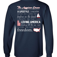 'American Dream Definition' Long Sleeve Tee