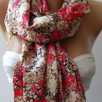Pink and Beige / Elegance Scarf- SOFT