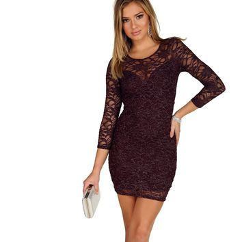 Blood Red Sparkle Lace Dress
