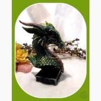 """Lucky"" Green Dragon Head Statue"