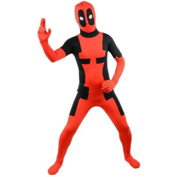 Deadpool Dead pool Taco Novelty Flash Sale adult  costume halloween Men superhero cosplay Spandex bodysuit AT_70_6