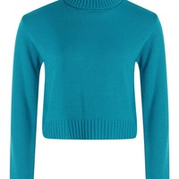 Roll Neck Crop Jumper | Boohoo