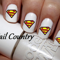 50pc Super Man Logo Nail Decals Nail Art Nail Stickers Best Price On Etsy NC1