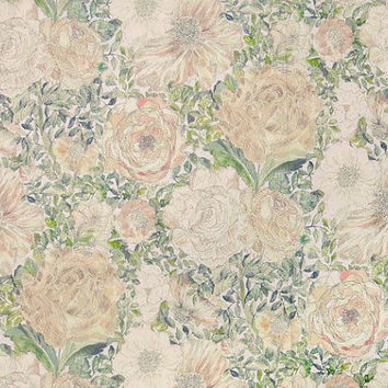 Liberty Tana Lawn Fabric - Liberty Japan, Alice Romantic Floral Flower Design, Liberty Print Cotton Scrap, Quilting Patchwork - NT15SS44