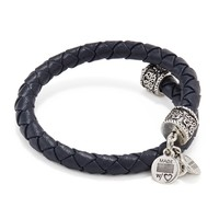 Midnight Braided Leather Wrap