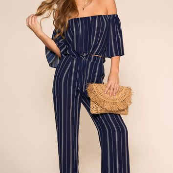 Sandy Beaches Pants - Navy