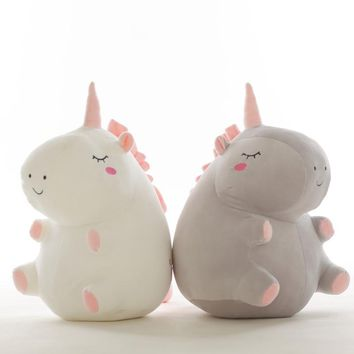 55cm Cute unicorn plush doll toy Stuffed &Plush Animal Baby Toys doll baby accompany sleep toy gifts For kids WJ497