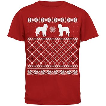 Goldendoodle Ugly Christmas Sweater Red Adult T-Shirt