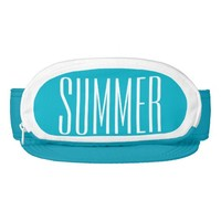 Turquoise Cap-Sac fanny pack for head, Summer Text Visors
