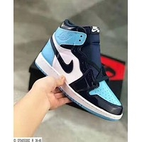 Nike Air Jordan 1 Retro Popular Women Men High Top Sport Running Shoes Sneakers