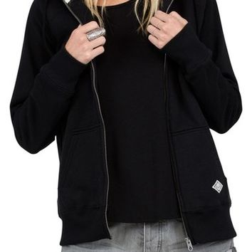 Volcom Lived In Faux Shearling Lined Hoodie | Nordstrom