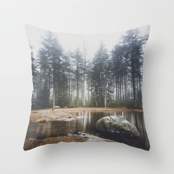 Moody mornings Throw Pillow by happymelvin
