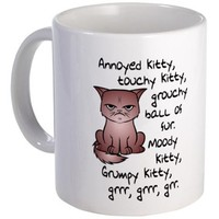 GROUCHY KITTY MUG