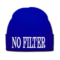 NO FILTER beanie or SNAPBACK hat