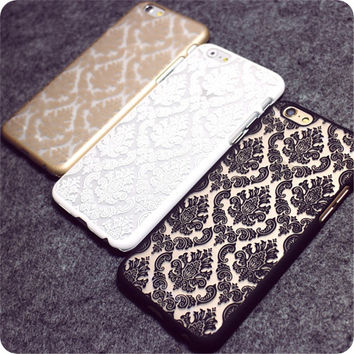 Retro Vintage Print Pattern Henna Floral Paisley Palace Flower Phone Cases For iPhone 4s 5s 5C 6 6S 6Plus 7 7Plus Cover Capa