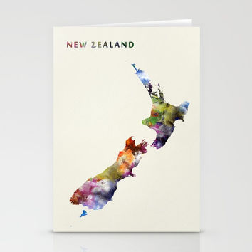 New Zealand Stationery Cards by monnprint