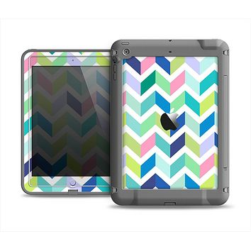 The Fun Colored Vector Segmented Chevron Pattern Apple iPad Mini LifeProof Fre Case Skin Set