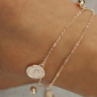 Jewelry Gift Shiny New Arrival Sexy Ladies Cute Korean Hot Sale Double-layered Simple Design Stylish Anklet [6768769351]