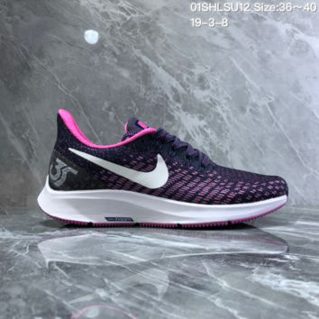 HCXX N1006 Nike Air Zoom Structure 35 Scaly breathable mesh Running Shoes Purple Pink