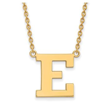 NCAA 14k Gold Plated Silver Eastern Michigan U Large Pendant Necklace