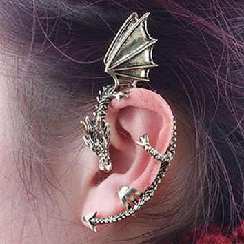 ES104 Fashion Unicorn Brincos Girls Earing Bijoux Vintage Dragon Clip Earrings For Women Jewelry Earings One Direction